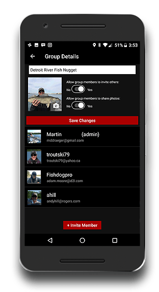 Fishing App - FISHBUOY Pro - Private Fishing Groups Profile