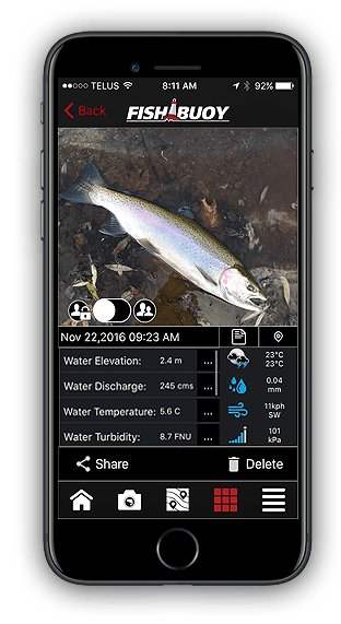 Fishing App - FISHBUOY Catch Details